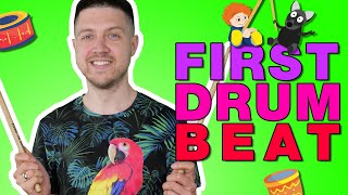 Drum Lessons for Kids! Your FIRST Drum Beat Ep7