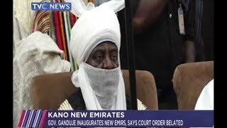 Ganduje inaugurates new emirs in Kano as he states that court order was belated
