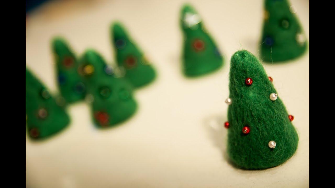 Weihnachtsbaum filzen deko im advent youtube - Weihnachtsbaum deko basteln ...