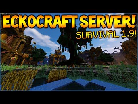 Minecraft server 1.11.2 - CUSTOM SURVIVAL SERVER - Join Today! (eckocraft.mcph.co)