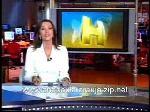 Ana Paula Araújo - apresentando o Jornal Hoje - 02/08/2008