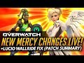 Overwatch NEW MERCY CHANGES LIVE LUCIO FIX Patch Summary mp3