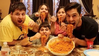 SPICY NOODLE CHALLENGE WITH ARMENIAN FAMILY!