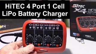Hitec X4 Micro 4 Port 1s LIPO Multi Charger Review and Demo