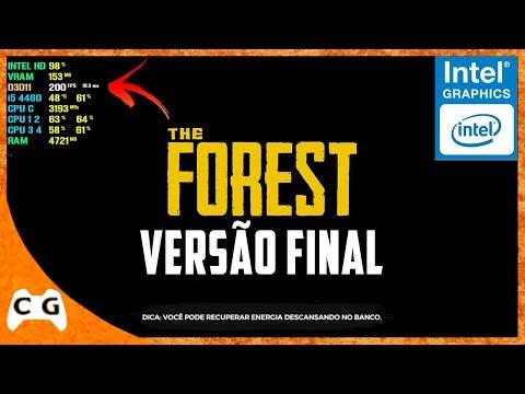 The Forest Versão Final Gameplay Teste Intel HD Graphics Roda em PC Fraco #492