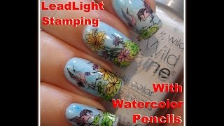 LeadLight Stamping Technique with Watercolour Pencils - Tutorial