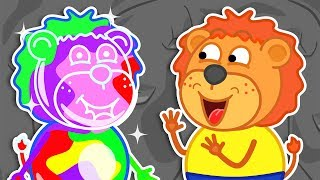 Lion Family 🌈 Journey to the Center of the Earth - Rainbow Game Cartoon for Kids