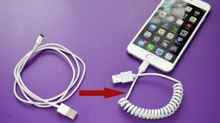 How To Coil Your Own Cell Phone Cord
