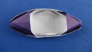Barchetta Origami How To Make An Origami Sampan Boat 折纸  折り紙