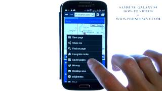 Samsung Galaxy S4 - How Do I Clear Web Browsing History