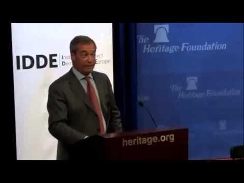 Nigel Farage's Speech in America on Greece, Migrant Crisis, ISIS + EU Referendum