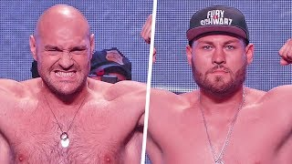 Tyson Fury vs. Tom Schwarz FULL WEIGH IN & FINAL FACE OFF | Top Rank Boxing