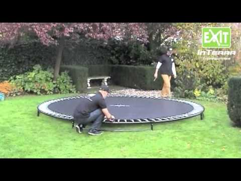 Inground trampoline Exit interra opbouw instructies | Trampolines.nl