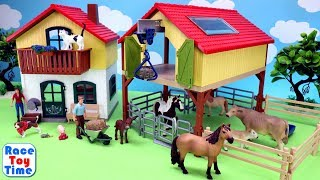 New Schleich Farm House Playset plus Animals Toys For Kids