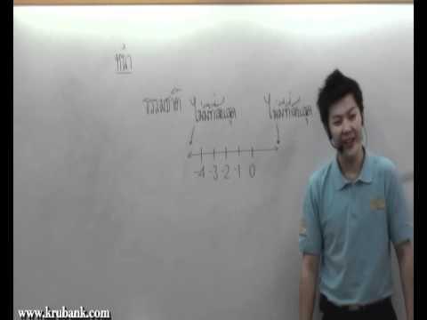 ระบบจำนวนเต็ม ม 1 คณิตศาสตร์ครูพี่แบงค์ part 1