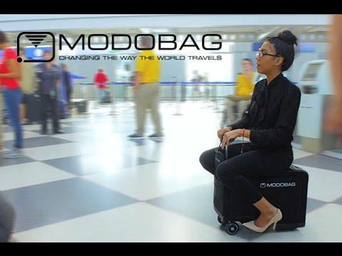 La valija motorizada, el nuevo invento para moverse más rápido que hasta lleva al pasajero
