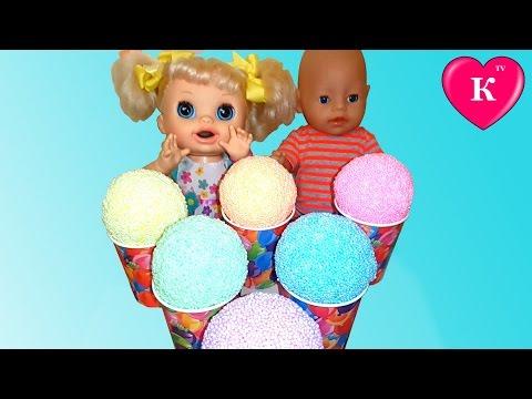Кукла Беби Борн и Беби Элайф ищут  Необычные сюрпризы в шариковом пластилине ЛПС Хелоу Китти
