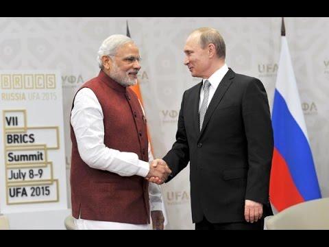 Narendra Modi meets President of Russia Vladimir Putin in Ufa