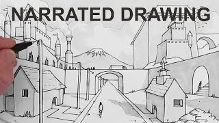 How to Draw a Background Scene in Perspective: Narrated