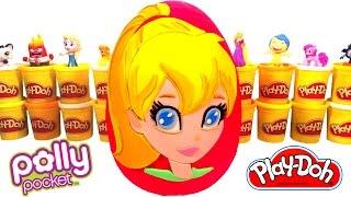 Huevo Sorpresa Gigante de Polly Pocket en Español Plastilina Play Doh