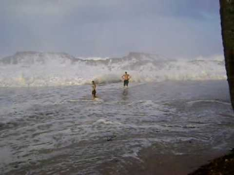 "BIG WAVES HIT THE ""VEGA BAJA BEACH"" IN PUERTO RICO"