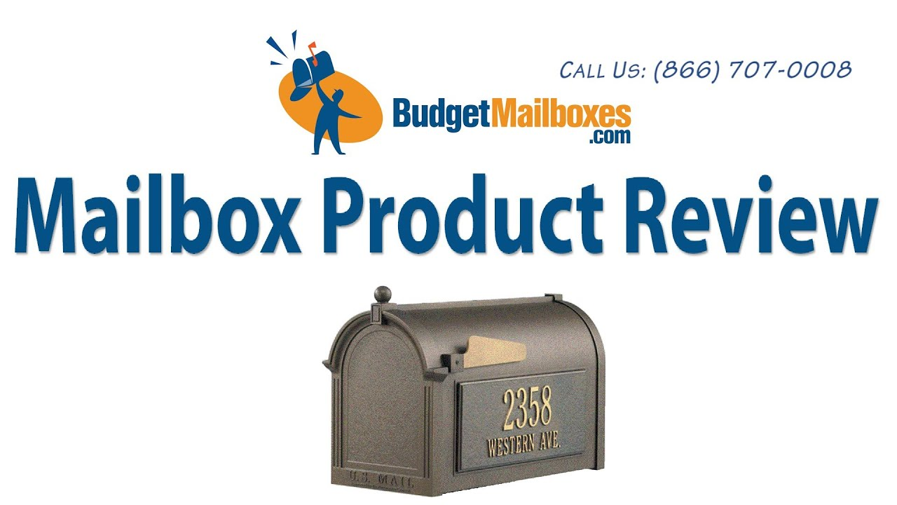 whitehall mailbox product review by budgetmailboxes   youtube