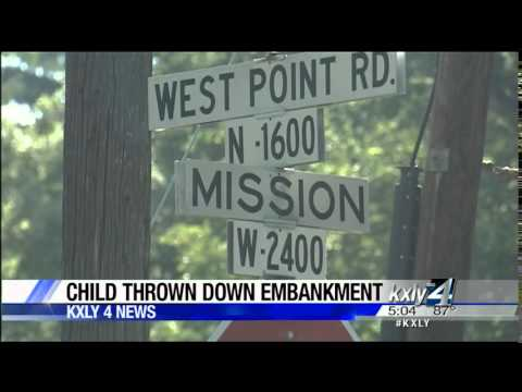 Mother arrested after throwing toddler down embankment