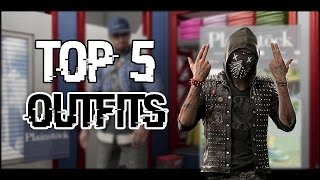 Top 5 Best Outfits | WATCH DOGS 2