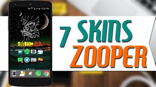 7 Mejores Skins para zooper widget pro - Andro Space