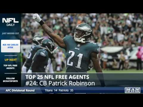 This Chat Sports segment featuring the Top 25 NFL free agents In 2018 originally aired at 6 p.m. ET on 1/16/2018 LIVE on the NFL by Chat Sports Facebook Page: https://www.facebook.com/ChatSportsNFL...