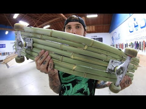 A BAMBOO SKATEBOARD?!?!?! | YOU MAKE IT WE SKATE IT EP. 201
