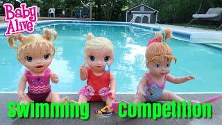 Baby Alive Fun Swimming Competiton