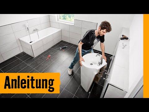 Waschtischsäule einbauen | HORNBACH Meisterschmiede