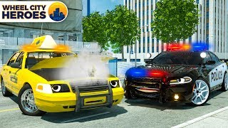 Alive Ambulance bring Broken Taxi to Hospital | Wheel City Heroes (WCH) - New 3D Police Car Cartoon