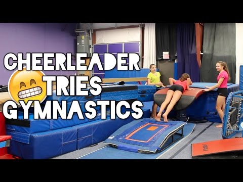 Cheerleader Tries Gymnastics: Round 2