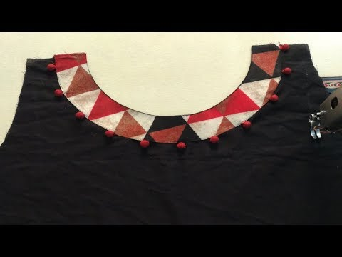 Latest Boat Neck Design Cutting and Stitching || Beautiful Front Neck (Boat Neck) Desing making