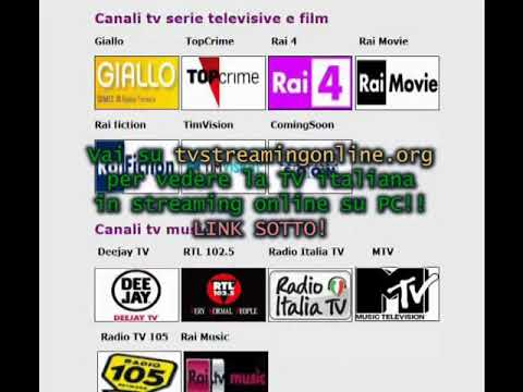 TV streaming online su PC, tablet, iPad, iPhone diretta gratis