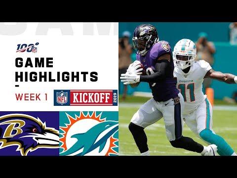 Ravens vs. Dolphins Week 1 Highlights  NFL 2019