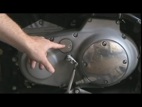 How To Adjust An Evolution Harley Davidson Sportster or Buell Motorcycle Primary Chain & Change Oil