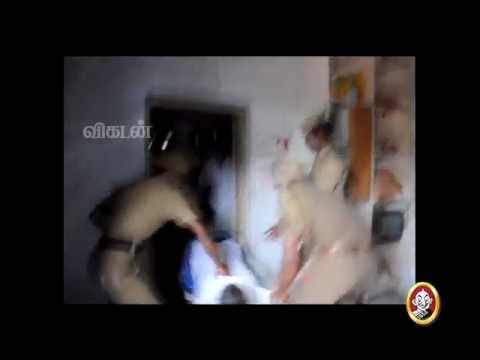 Tamilnadu Police Beating  Public  Salem Kalavaram   Junior Vikatan video