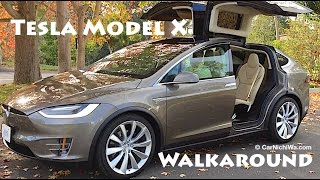 Tesla Model X | Owner's Review Part 2 | Walkaround | CarNichiWa.com