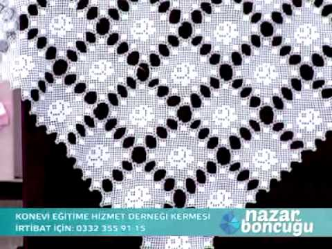 kon tv nazar boncuğu proğramın da yayınlanan dantel örnekleri