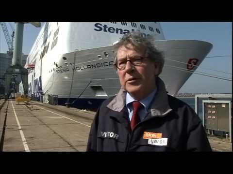 BBC Look East News Harwich Big Cruise Ships Stena Hollandica & Suffolk Mooter Bike Mopeds