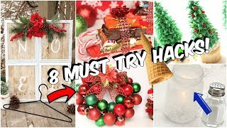 8 Dollar Tree Christmas  Hacks You NEED to Try