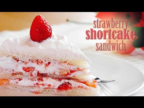 No-Bake Strawberry Shortcake Sandwich (RECIPE) ベイクせずに作るイチゴのショートケーキ!(レシピ)