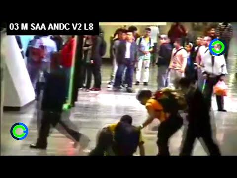 Golpiza, heridos y petardos en metro Santa Anita