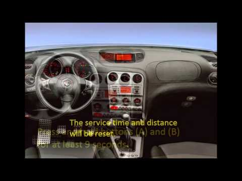 How To Reset Service Light Indicator Alfa Romeo 156 1999 - 2006