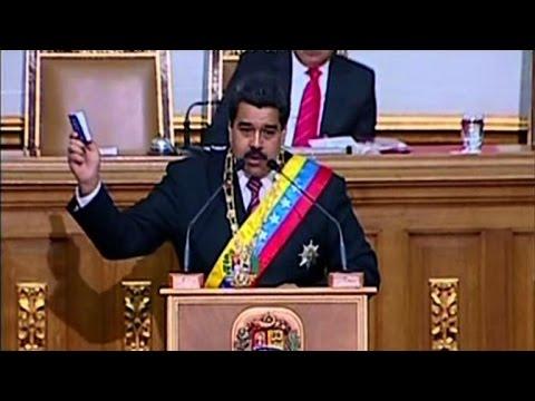 Venezuelan leader seeks decree powers amid US rift