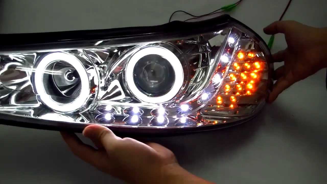 Mondeo 1996-2000 CCFL Angel-Eye Projector DRL LED R8 Style ...