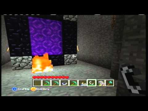 Minecraft Xbox 360 Nether Portal FULL TUTORIAL